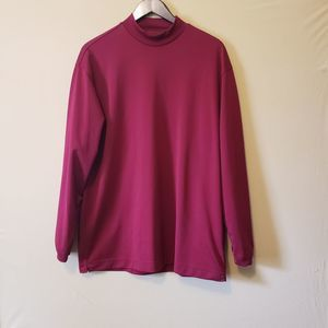 Nike Men's Dri-fit Golf Maroon Long-Sleeve shirt